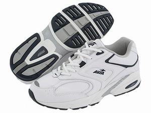 White/pink Avia Womens Avi-Strike Walking Shoes from Shopko
