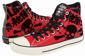 Style Information  Converse Chuck Taylor® All Star® The Clash Print Hi are  inspired from English rock band The Clash. Its upper is made from canvas  and ... 4f55aa31b